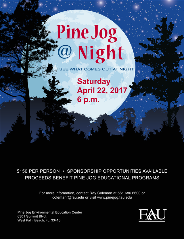Don't Miss Our Annual Fundraiser-Pine Jog @ Night!